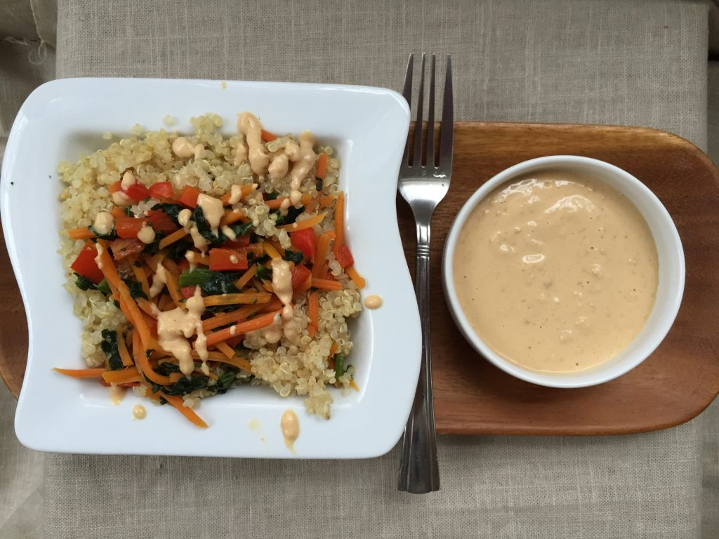 Quinoa Bowl with Peanut Sauce